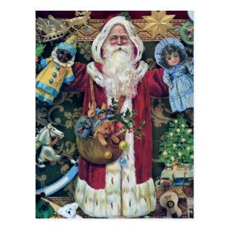 Cartão Postal Presentes da arte do Victorian do Natal do pai de