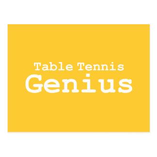 Cartão Postal Presentes do gênio do ténis de mesa