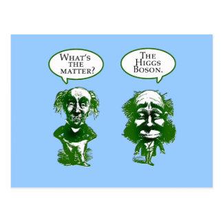 Cartão Postal Presentes do humor da física do Boson de Higgs
