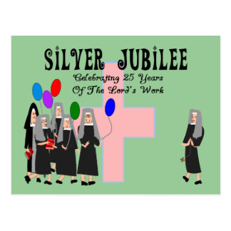 Cartão Postal Presentes do jubileu de prata das freiras