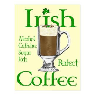 Cartão Postal Presentes dos amantes do café irlandês
