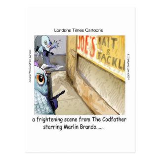 Cartão Postal Presentes engraçados da máfia dos peixes de