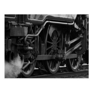 Cartão Postal Presentes locomotivos do trem do motor de vapor