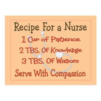 """Cartão Postal Presentes """"receita da enfermeira para uma"""