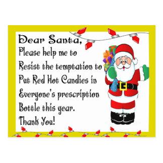 Cartão Postal Presentes temáticos do Natal engraçado do