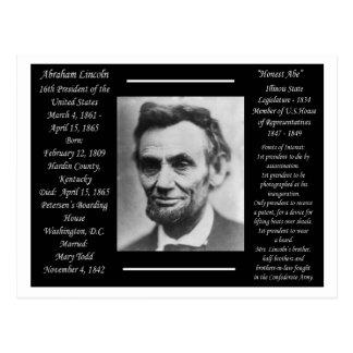 Cartão Postal Presidente Abraham Lincoln