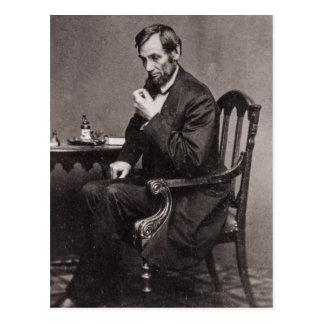 CARTÃO POSTAL PRESIDENTE ABRAHAM LINCOLN 1862 STEREOVIEW