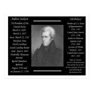 Cartão Postal Presidente Andrew Jackson