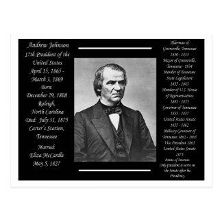 Cartão Postal Presidente Andrew Johnson