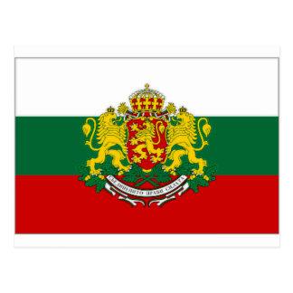 Cartão Postal Presidente Bandeira de Bulgária