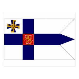 Cartão Postal Presidente Bandeira de Finlandia
