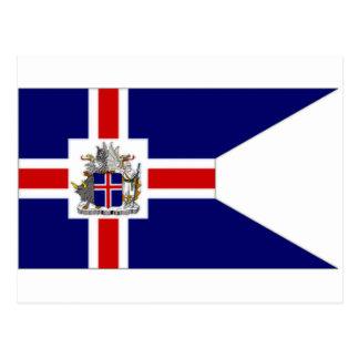 Cartão Postal Presidente Bandeira de Islândia