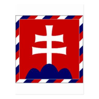 Cartão Postal Presidente Bandeira de Slovakia