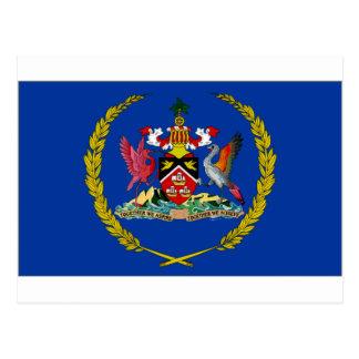 Cartão Postal Presidente Bandeira de Trinidad Tobago