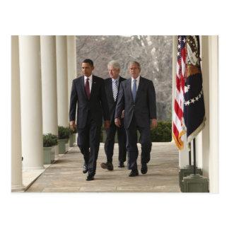 Cartão Postal Presidente Barack Obama e presidentes anteriores