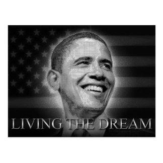 Cartão Postal Presidente Barack Obama - vivendo o sonho