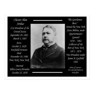 Cartão Postal Presidente Chester Alan Arthur