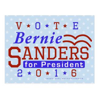 Cartão Postal Presidente das máquinas de lixar de Bernie eleição