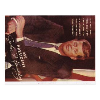 Cartão Postal Presidente de JFK Kennedy