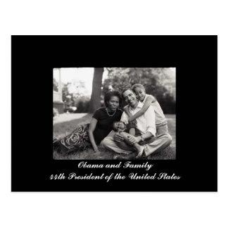 Cartão Postal Presidente de Obama e de família 44a dos EUA