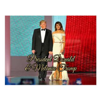 Cartão Postal Presidente Donald Trump & foto de Melania