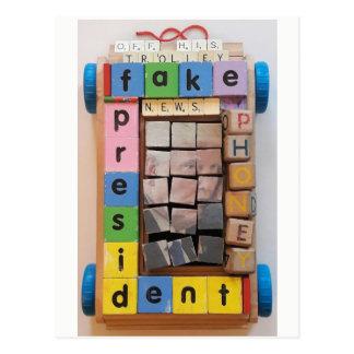 Cartão Postal Presidente falsificado