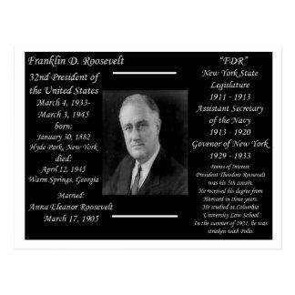 Cartão Postal Presidente Franklin D Roosevelt