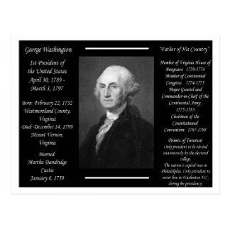 Cartão Postal Presidente George Washington