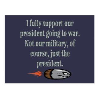 Cartão Postal Presidente Going à piada da guerra