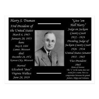 Cartão Postal Presidente Harry Truman