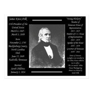 Cartão Postal Presidente James K Polk