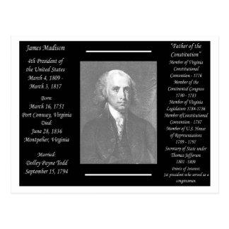 Cartão Postal Presidente James Madison