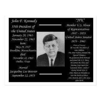 Cartão Postal Presidente John F. Kennedy