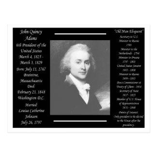 Cartão Postal Presidente John Quincy Adams