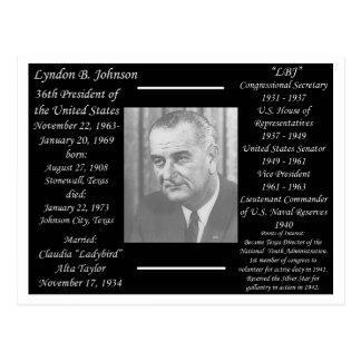 Cartão Postal Presidente Lyndon Johnson
