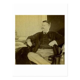 Cartão Postal Presidente Roosevelt em sua mesa na casa branca