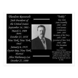 Cartão Postal Presidente Theodore Roosevelt
