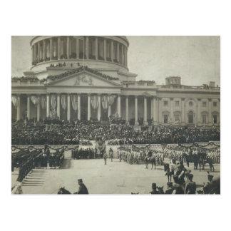 Cartão Postal Presidente Theodore Roosevelt que toma o juramento