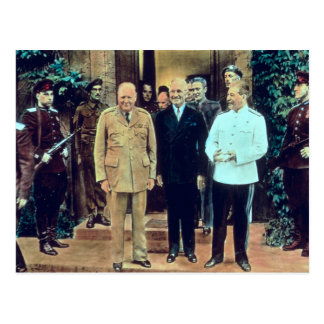 Cartão Postal Presidente Truman e Josef Stalin