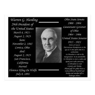 Cartão Postal Presidente Warren G Harding