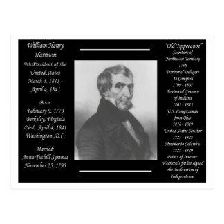 Cartão Postal Presidente Willam Henry Harrison