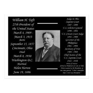 Cartão Postal Presidente William H Taft