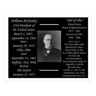 Cartão Postal Presidente William McKinley
