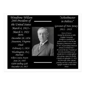 Cartão Postal Presidente Woodrow Wilson