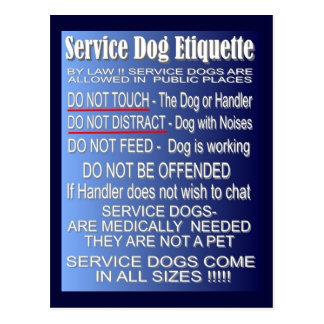 Cartão Postal Preste serviços de manutenção à etiqueta do cão