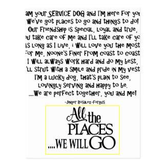 Cartão Postal Preste serviços de manutenção ao cão que o poema