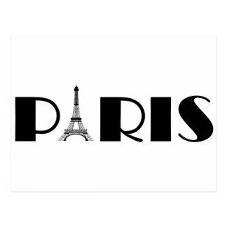 Cartão Postal Preto & branco de Paris da torre Eiffel