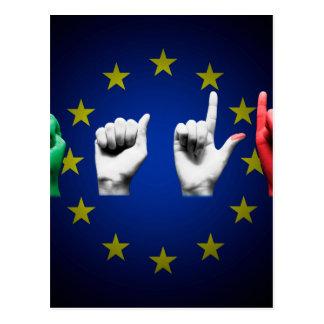 Cartão Postal preto de italia Europa