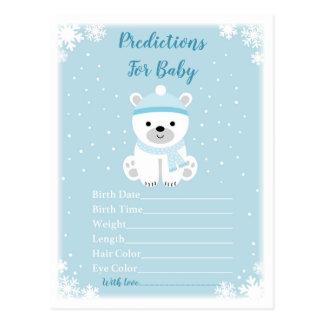 Cartão Postal Previsões bonitos do urso polar para o jogo do