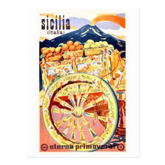 Cartão Postal Primavera 1947 eterno do poster de viagens de